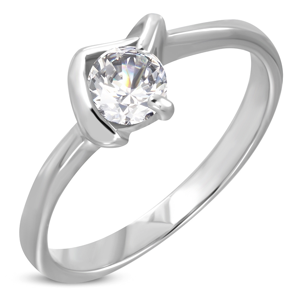 188a2d050 Dámsky prsteň s čírym kamienkom - GAMEON - Jewellery, Watches & Accessories